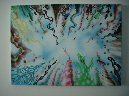 Jonas Pihl. Round N Round. 55x75 cm. 2009. kr. 12.500 [Skrivebordets opløsning]