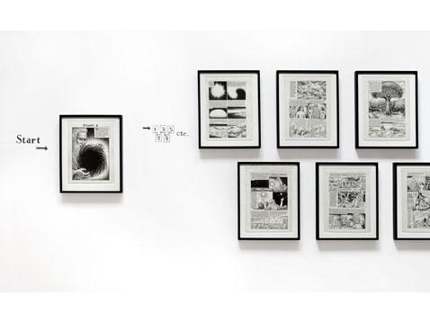 R. Crumb drawings with wall diagram_web
