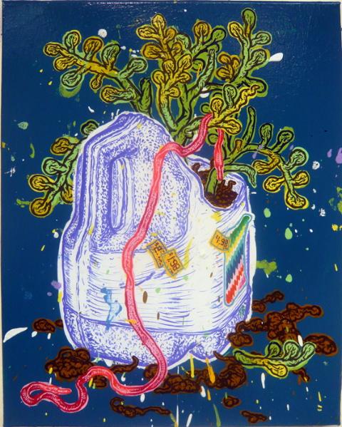 Taylor McKimens-Milk Jug and Shoelace Plant