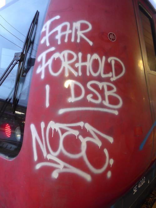 Tags:AIS, Art, Copenhagen, Copenhagen Graffiti, Coup, Dasher, Denmark, DK,  DSB, Fair forhold i DSB, Fase, Graffiti, Graffiti on trains, Ker, Kunst,  NM, ...
